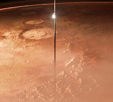 Mars And The Space Elevator by Ludovic Celle