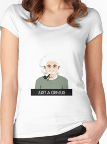 Just a genius. Women's Fitted Scoop T-Shirt