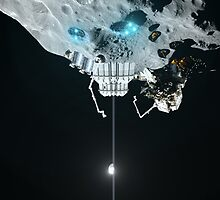 Clarke And The Space Elevator by Ludovic Celle