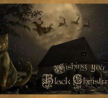 Wishing you a Black Christmas Holiday Card by hollie13