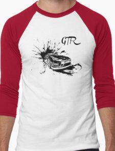 Black Nissan GTR  Men's Baseball ¾ T-Shirt