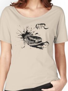 Black Nissan GTR  Women's Relaxed Fit T-Shirt