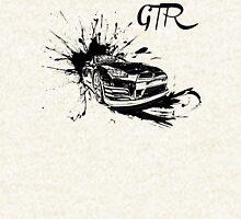 Black Nissan GTR  Zipped Hoodie