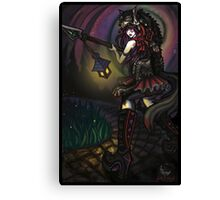 Red Hunting Wolf Canvas Print