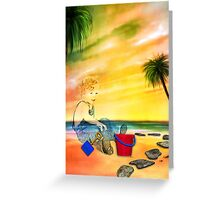I LEFT MY INNER CHILD AT THE BEACH! Greeting Card