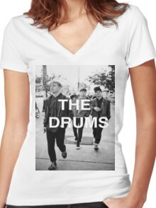 The Drums Shirt Women's Fitted V-Neck T-Shirt