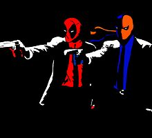Pulp Mercenaries Deadpool Deathstroke by justin13art