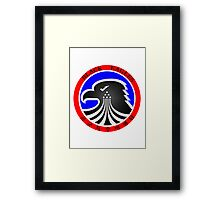 Black Eagles patch Framed Print