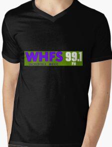 WHFS 99.1FM Alternative Radio Station Bumper Sticker Design Mens V-Neck T-Shirt