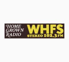 WHFS 102.3FM Alternative Radio Station Bumper Sticker Design Kids Clothes