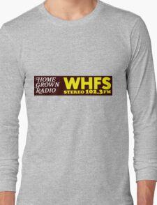 WHFS 102.3FM Alternative Radio Station Bumper Sticker Design Long Sleeve T-Shirt