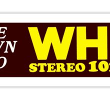 WHFS 102.3FM Alternative Radio Station Bumper Sticker Design Sticker