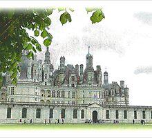 Chambord on the Loire by hans p olsen