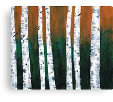 Natural Birch Trees Canvas Print