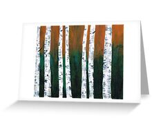 Natural Birch Trees Greeting Card
