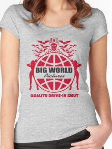 Big World Pictures Logo Women's Fitted Scoop T-Shirt