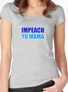 Impeach Yo Mama ( Blue and Teal ) Women's Fitted Scoop T-Shirt