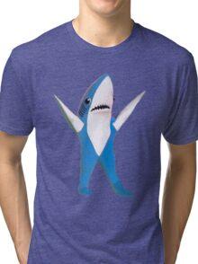SUPER BOWL SHARK Tri-blend T-Shirt