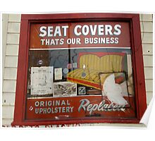 Wally's Seat Covers Poster