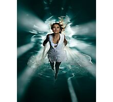 Beautiful Woman Diving in the Water art photo print Photographic Print