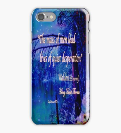 Walden Pond quote iPhone Case/Skin