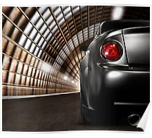 Black Car in a Tunnel art photo print Poster