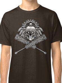 Aztec Skull and crossed macuahuitl Classic T-Shirt