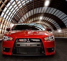 2008 Mitsubishi Lancer Evolution X art photo print by ArtNudePhotos