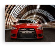 2008 Mitsubishi Lancer Evolution X art photo print Canvas Print