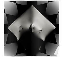 Abstract Cube art photo print Poster