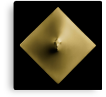 Golden Diamond art photo print Canvas Print