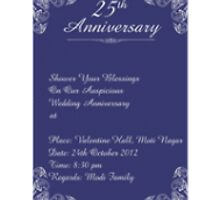 25Th Marriage Anniversary Invitation Cards by sudomark3