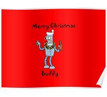 Christmas Robot Poster