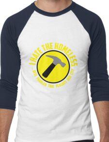 I Hate the Homeless Men's Baseball ¾ T-Shirt