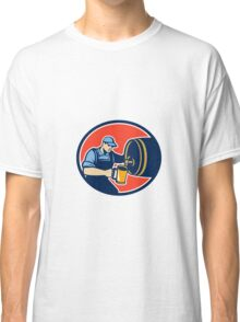 Brewer Bartender Pour Beer Pitcher Barrel Retro Classic T-Shirt
