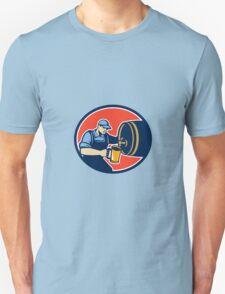 Brewer Bartender Pour Beer Pitcher Barrel Retro Unisex T-Shirt