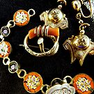 Victorian Jewellery (orange) by Peta Hurley-Hill