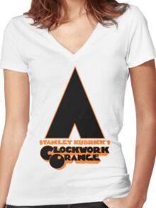 A Clockwork Orange II Women's Fitted V-Neck T-Shirt
