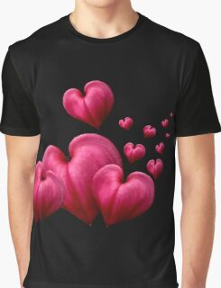 Dancing Hearts Black Graphic T-Shirt