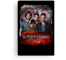 Supernatural Family dont end with blood 3  Canvas Print