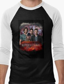Supernatural Family dont end with blood 3  Men's Baseball ¾ T-Shirt
