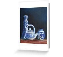 China Blue Greeting Card