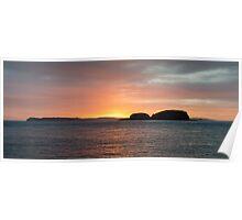Sunrise over Rathlin Poster