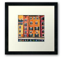 Italian Street Acrylic Painting Framed Print