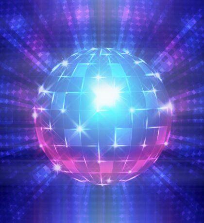 Fluorescent disco ball Sticker