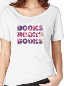 Books books books Women's Relaxed Fit T-Shirt