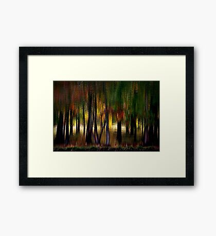 Nature With a Paintbrush Speaks Framed Print