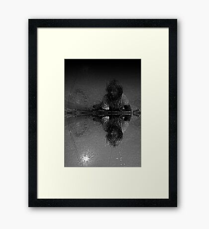 The Boy in the Bubble Framed Print
