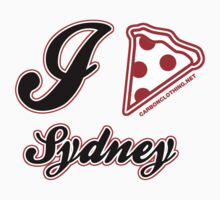 I Love Pizza Sydney by CarbonClothing