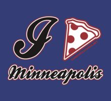 I Love Pizza Minneapolis by CarbonClothing
